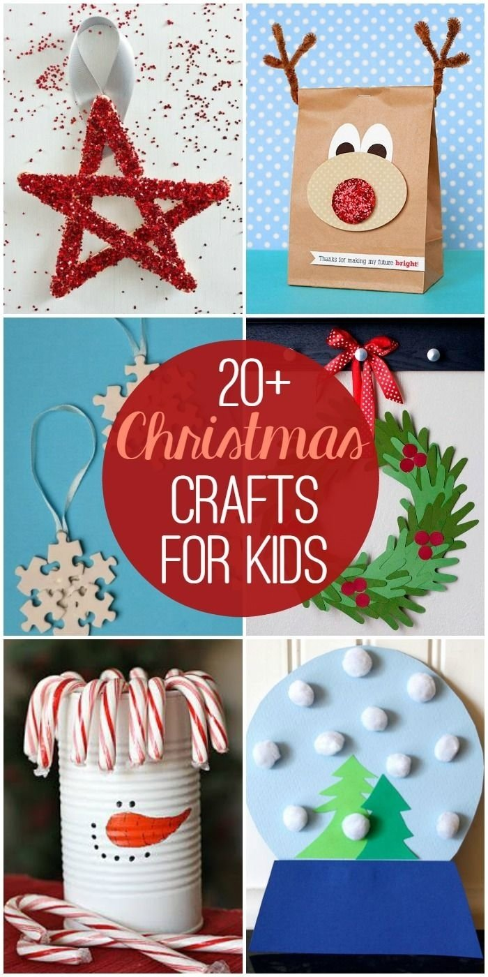 10 Awesome Pinterest Christmas Ideas For Kids 20 christmas crafts for kids 2020