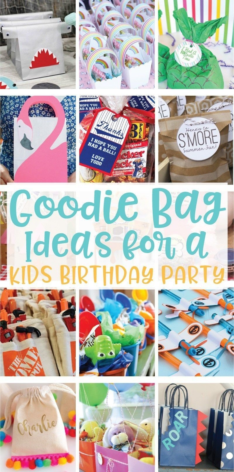 20 creative goodie bag ideas for kids birthday parties on | goodie