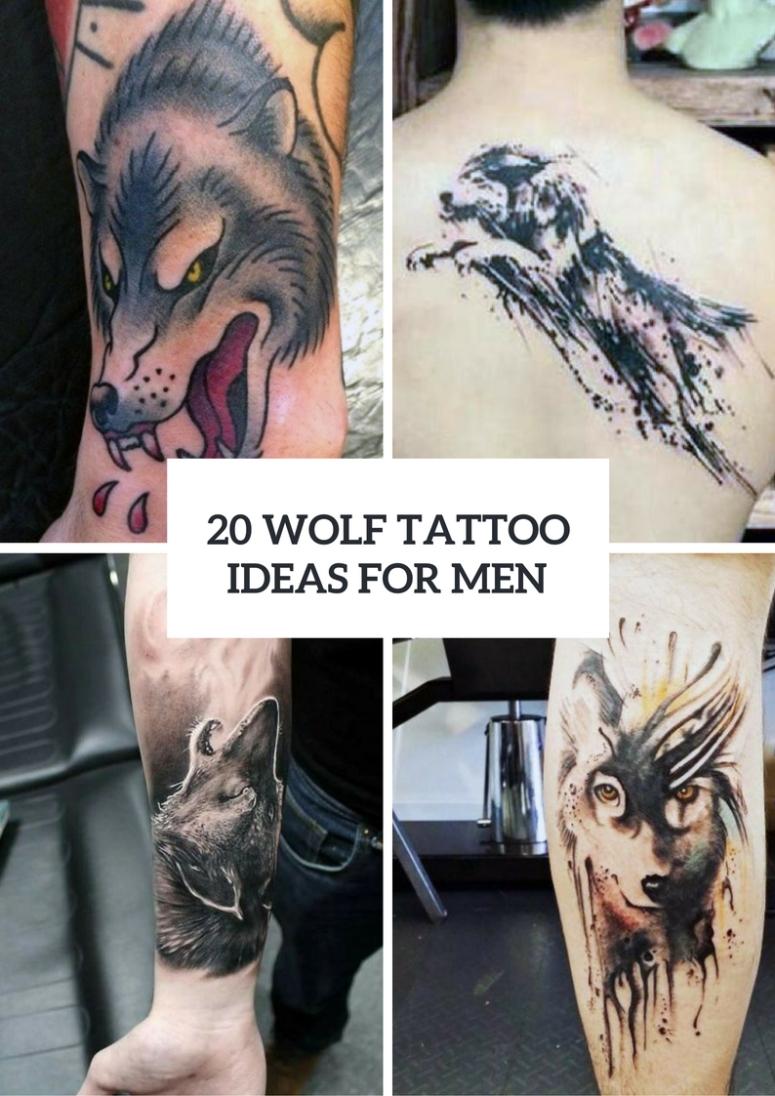 10 Elegant Ideas For Tattoos For Men 20 creative wolf tattoo ideas for men styleoholic 2021