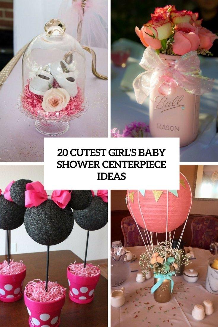 10 Fashionable Girl Baby Shower Centerpiece Ideas 20 cutest girls baby shower centerpiece ideas shelterness 8 2020