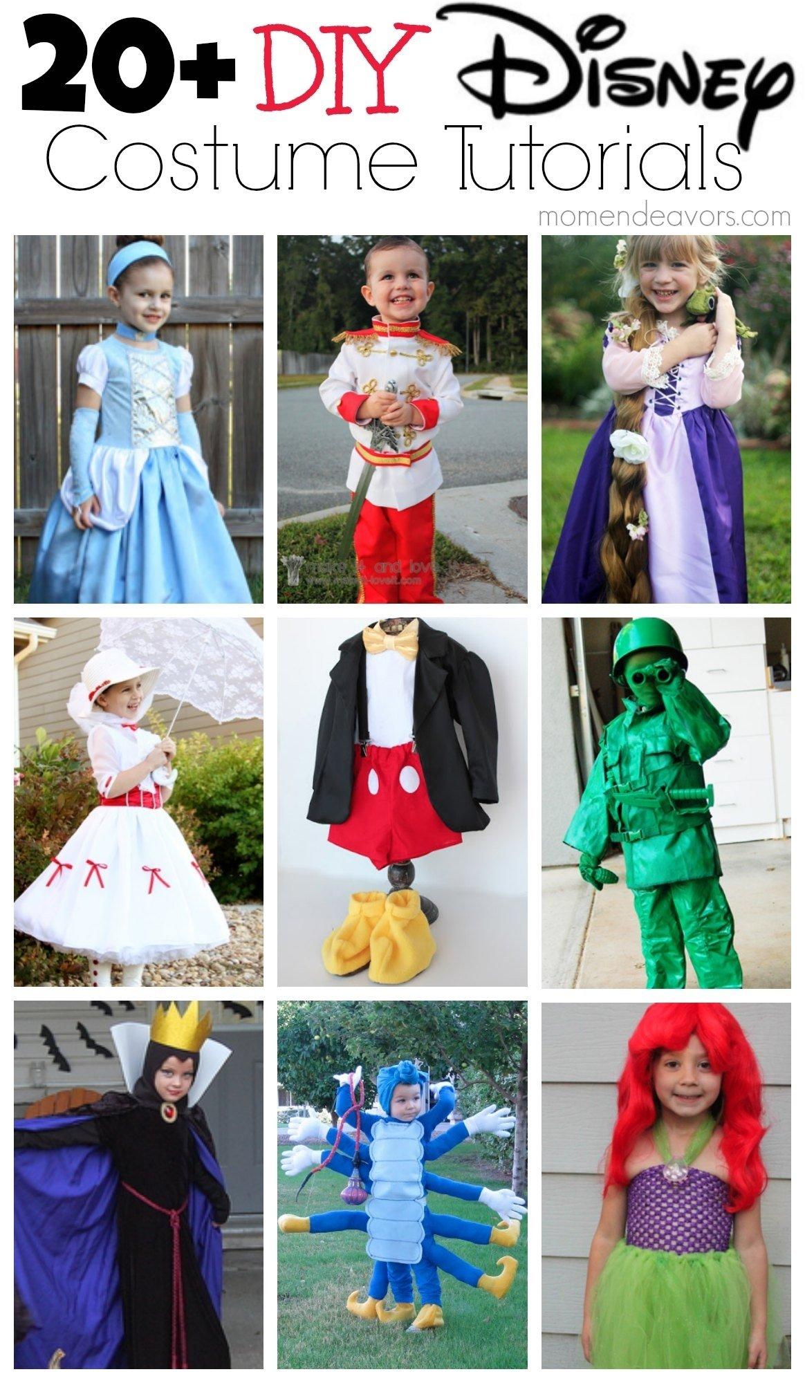10 Beautiful Disney Character Dress Up Ideas 20 diy disney halloween costumes 2020