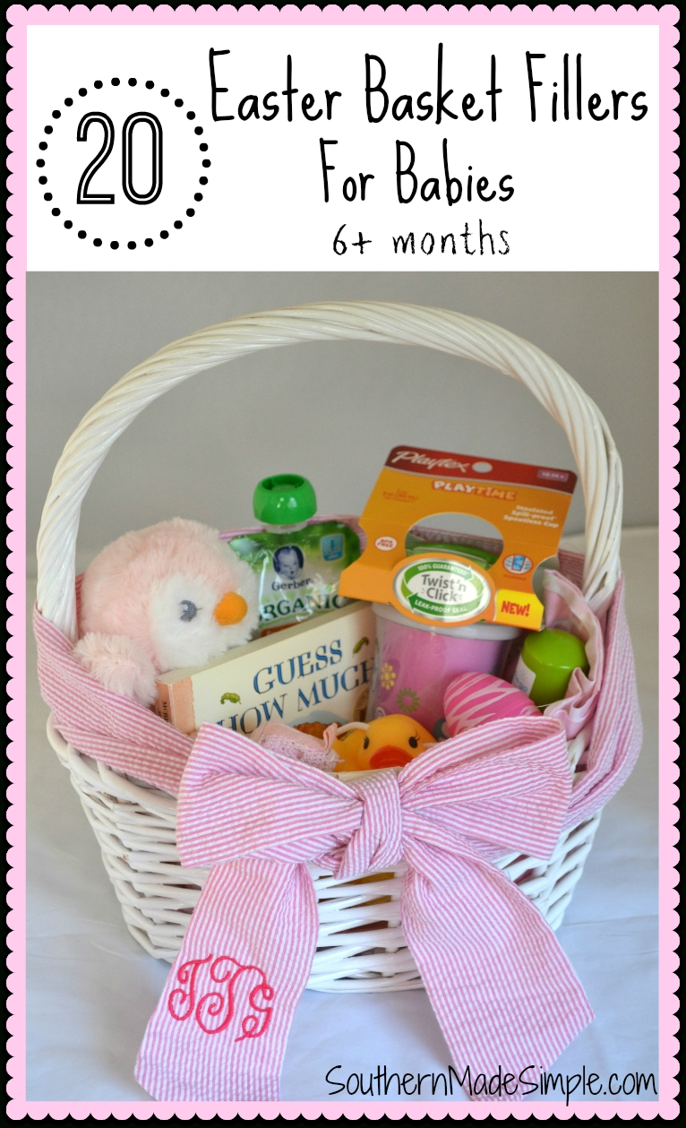10 Cute Easter Basket Ideas For Infants 20 easter basket fillers for babies southern made simple 2021