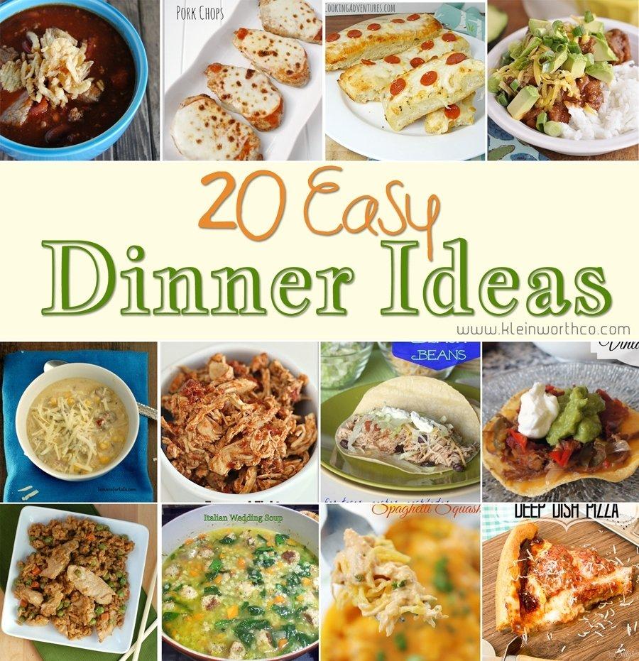 10 Attractive Easy Dinner Ideas For Family 20 easy dinner ideas kleinworth co