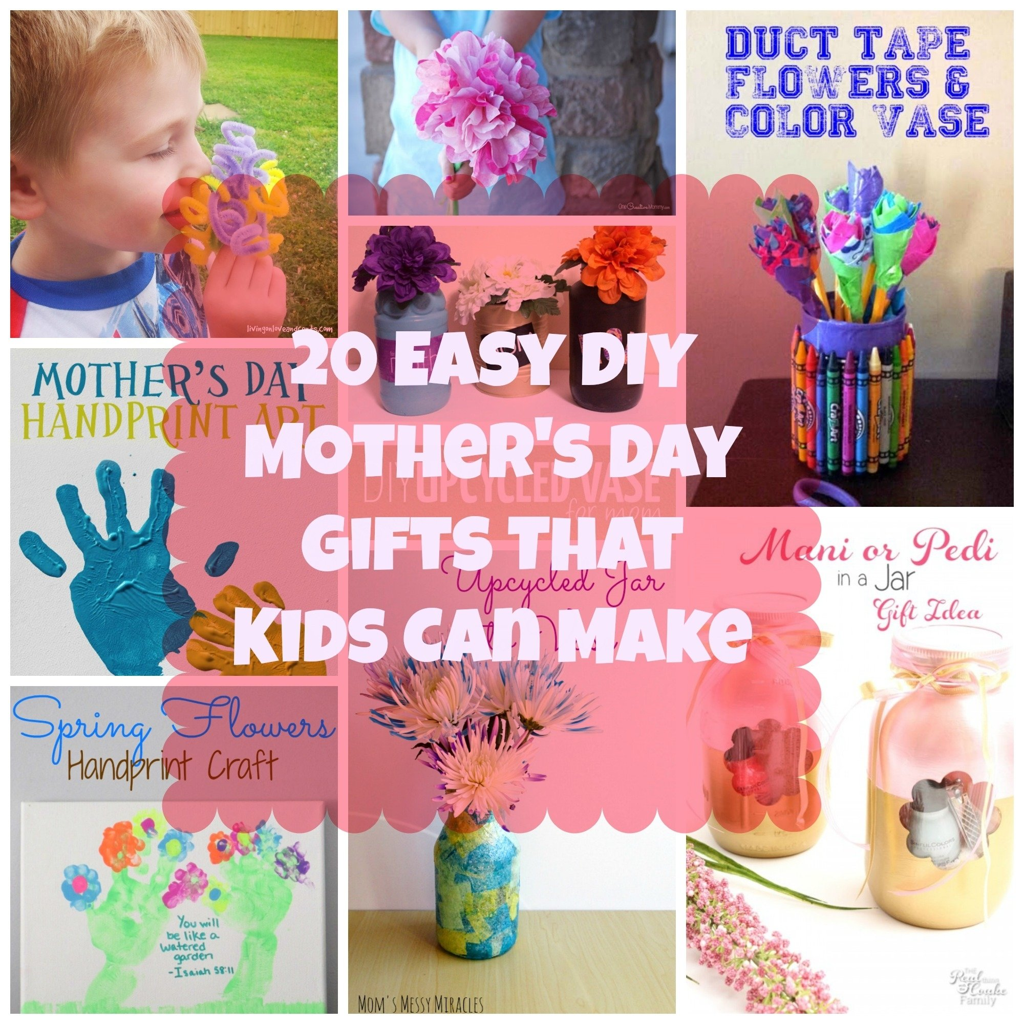 10 Most Popular Mother Day Homemade Gift Ideas 20 easy diy mothers day gifts that kids can make loversiq