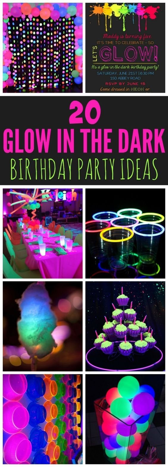 10 Lovely Glow In The Dark Party Ideas 20 epic glow in the dark party ideas pretty my party