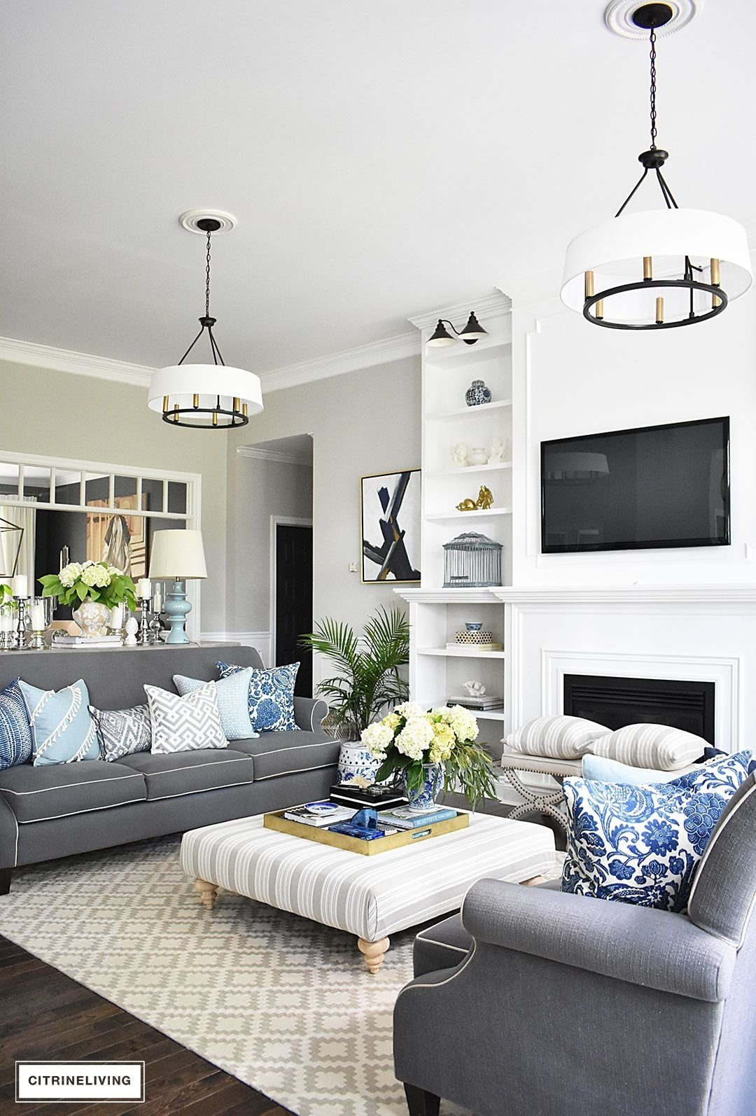 10 Stunning Blue And White Living Room Ideas 20 fresh ideas for decorating with blue and white living room 2021