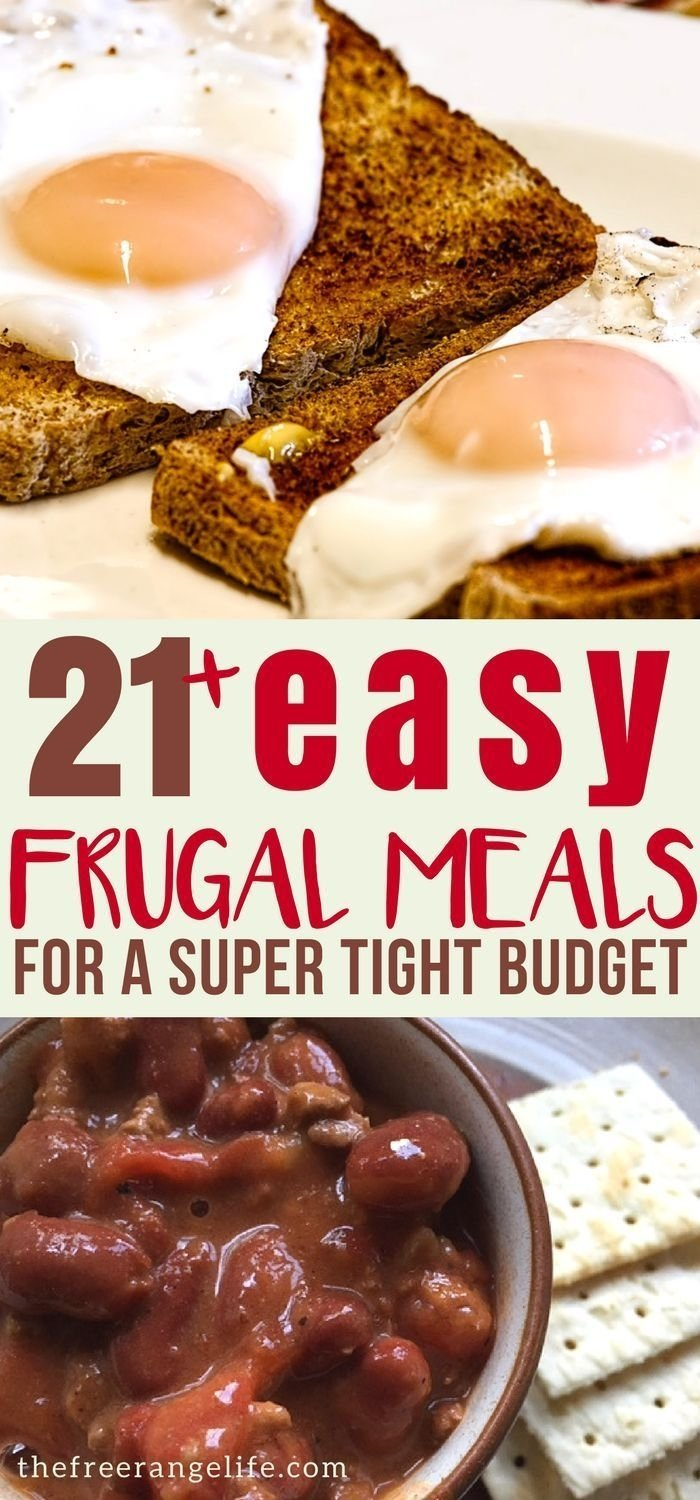 10 Trendy Cheap Meal Ideas For Large Families 20 frugal meals for when money is tight frugal meals frugal and