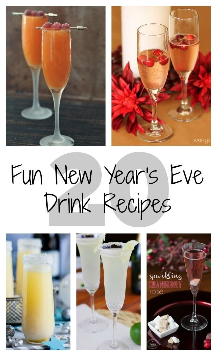 20 fun new year's eve drink recipes | crafty 2 the core~diy galore