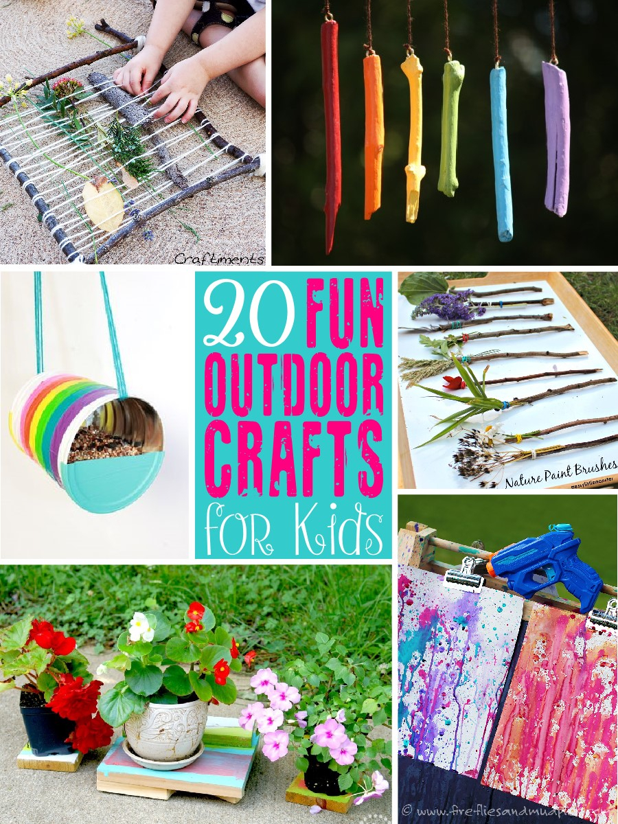 10 Unique Ideas For Crafts For Kids 20 fun outdoor craft ideas for kids the scrap shoppe 1