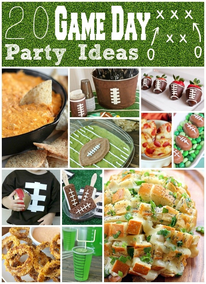 20 game day party ideas: food, crafts, & decor - eclectic momsense