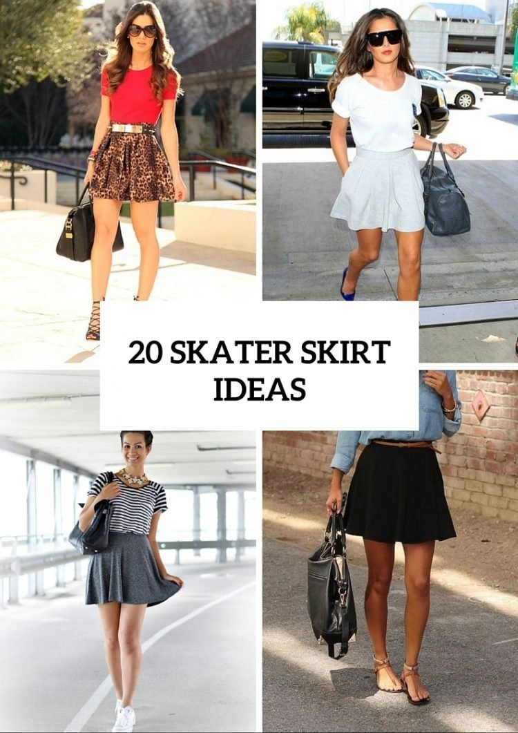 10 Wonderful Black Skater Skirt Outfit Ideas 20 girlish outfits with skater skirts to repeat styleoholic 2020