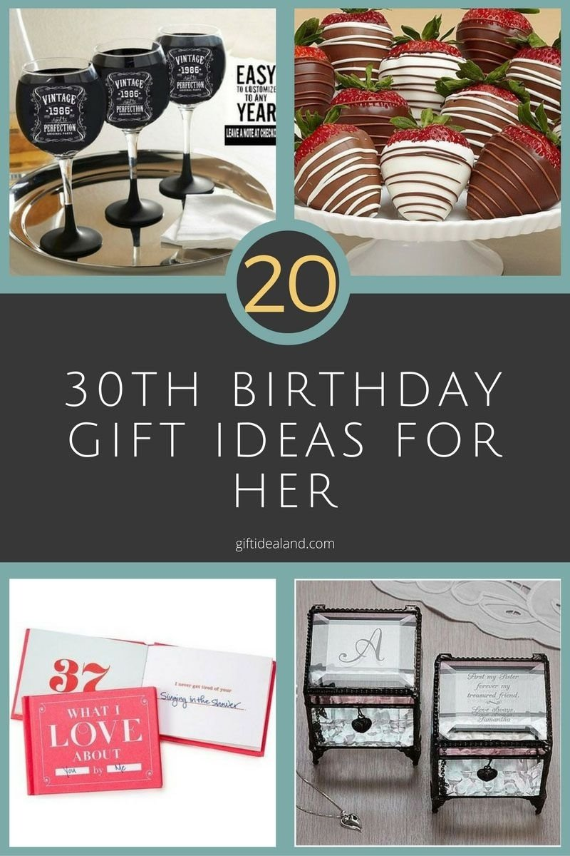10 Unique 30Th Birthday Gift Ideas For Her 20 Good 30th Women