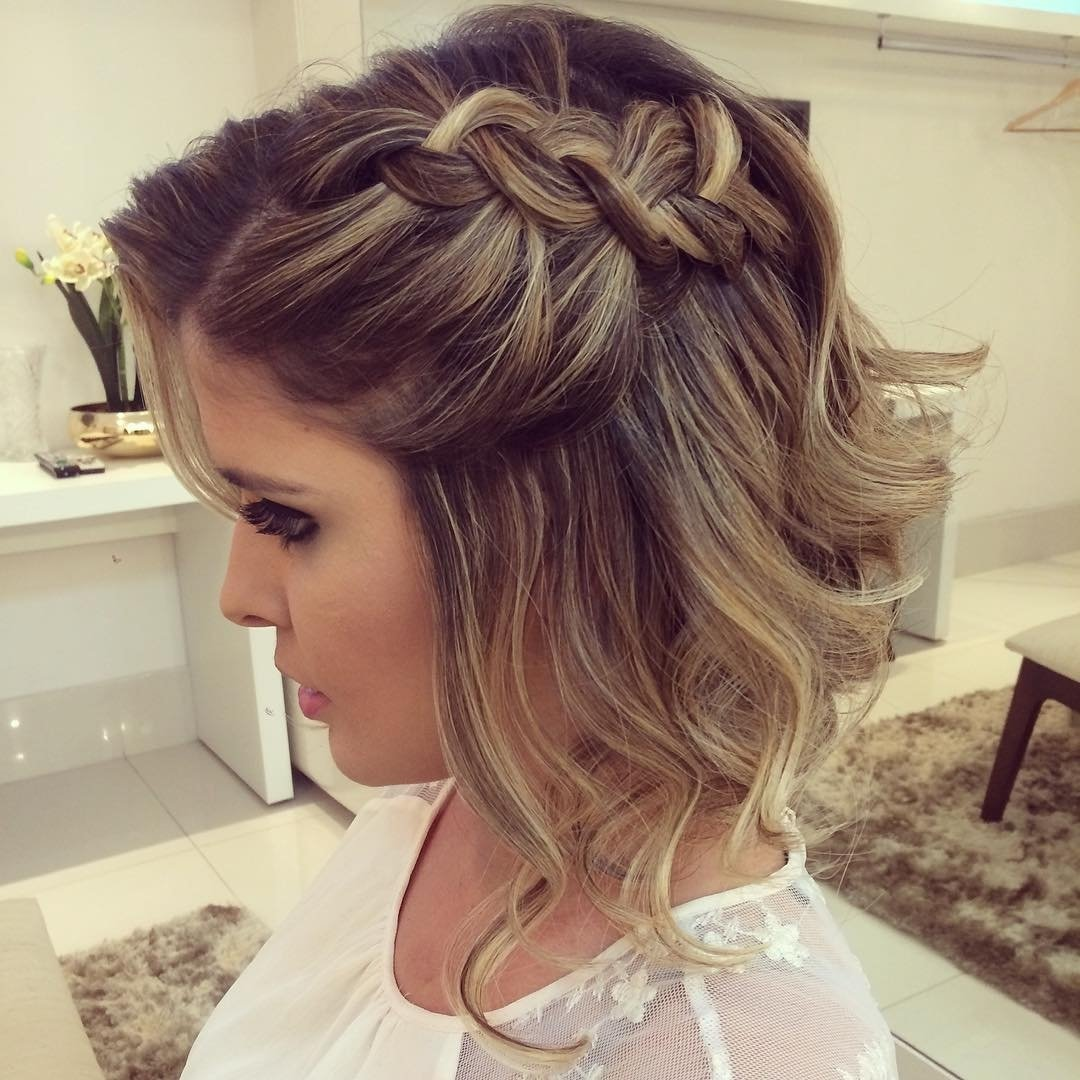 20 gorgeous prom hairstyle designs for short hair: prom hairstyles 2017