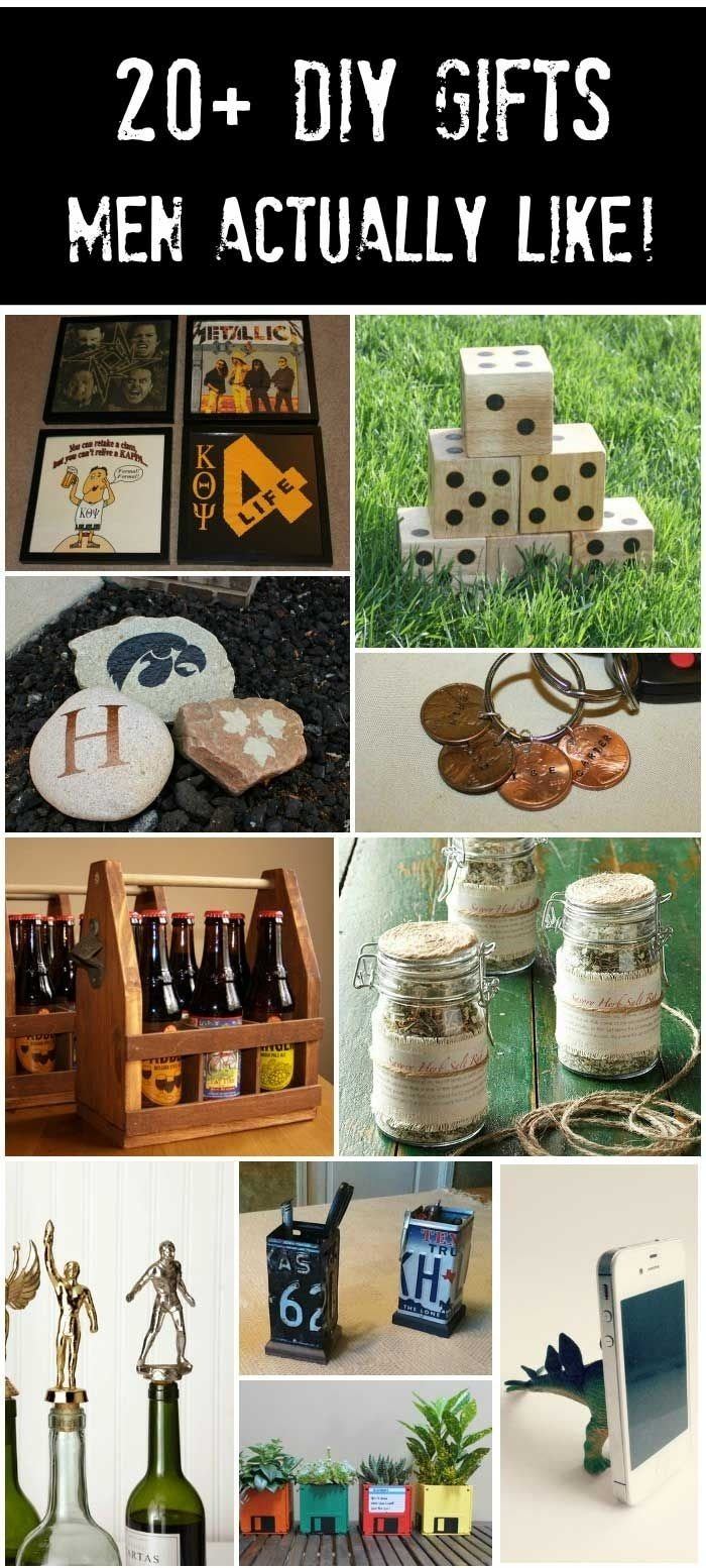 10 Stylish Homemade Gift Ideas For Him 20 handmade gifts guys will actually like guy gift and craft