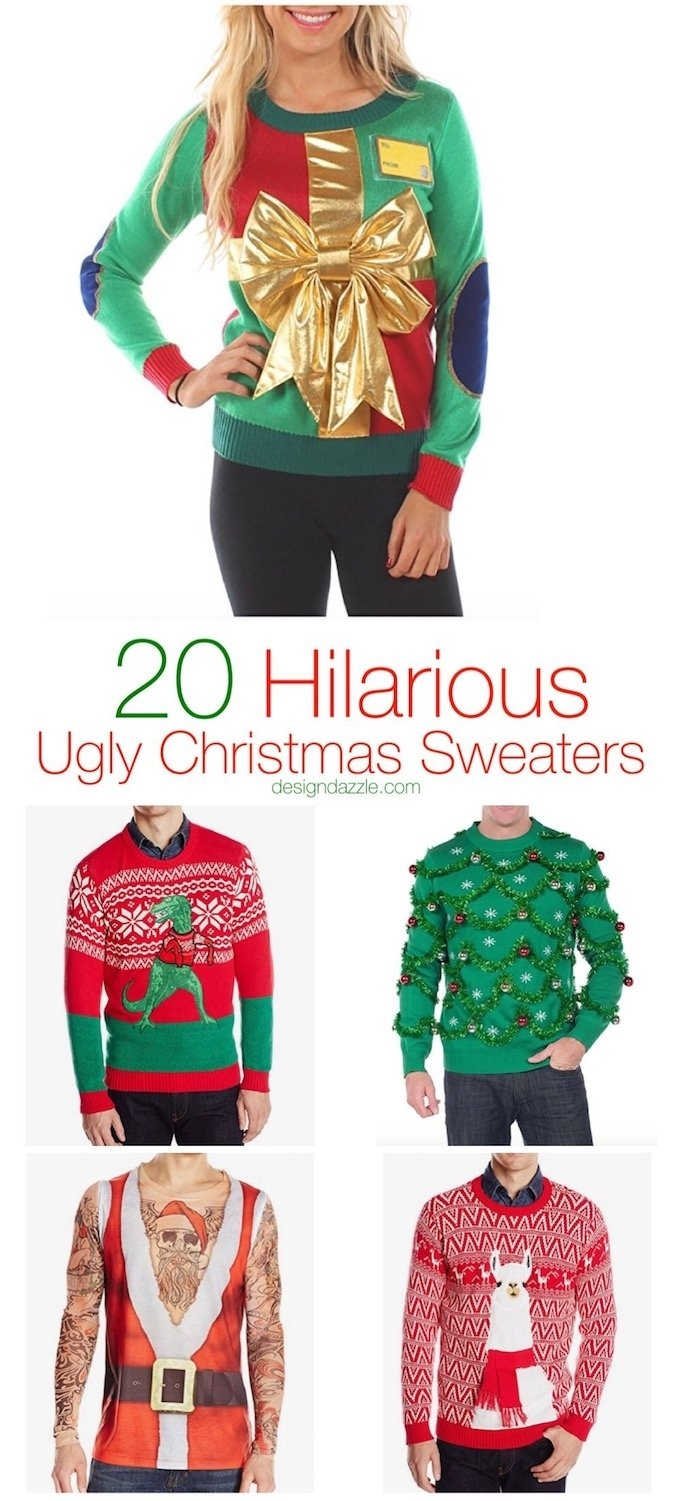 10 Pretty Ugly Christmas Sweater Ideas Diy 20 hilarious ugly christmas sweaters design dazzle 2020