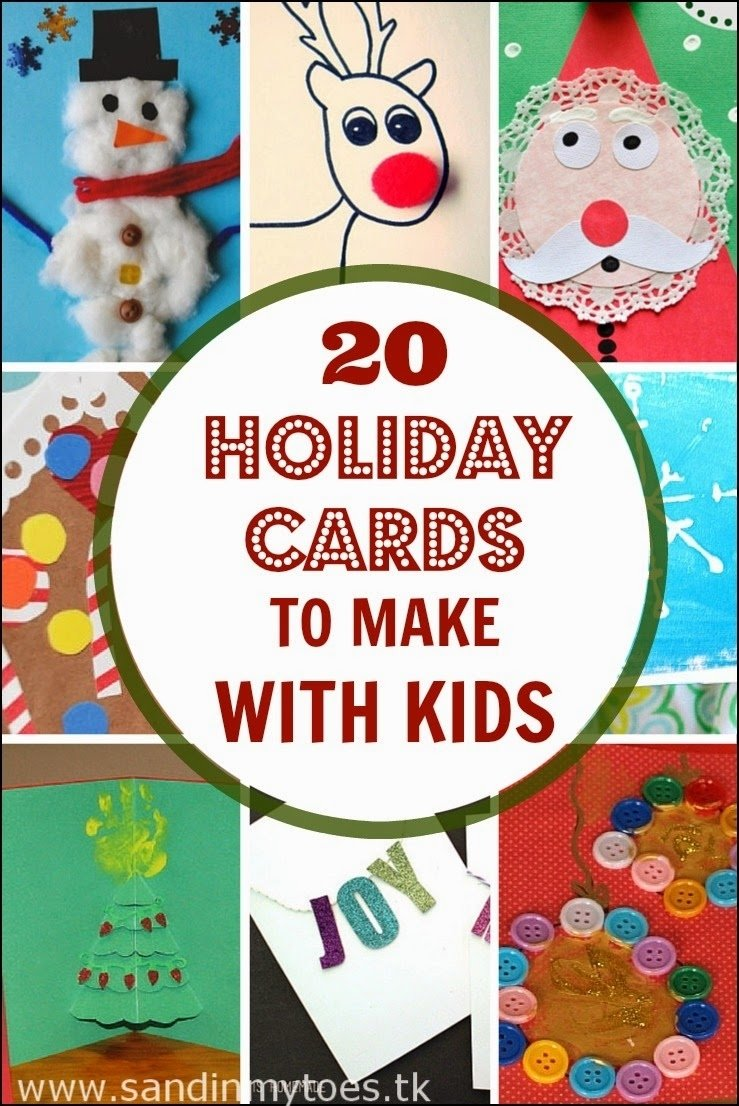 10 Most Popular Christmas Card Ideas With Kids 20 holiday cards to make with kids sand in my toes 2020