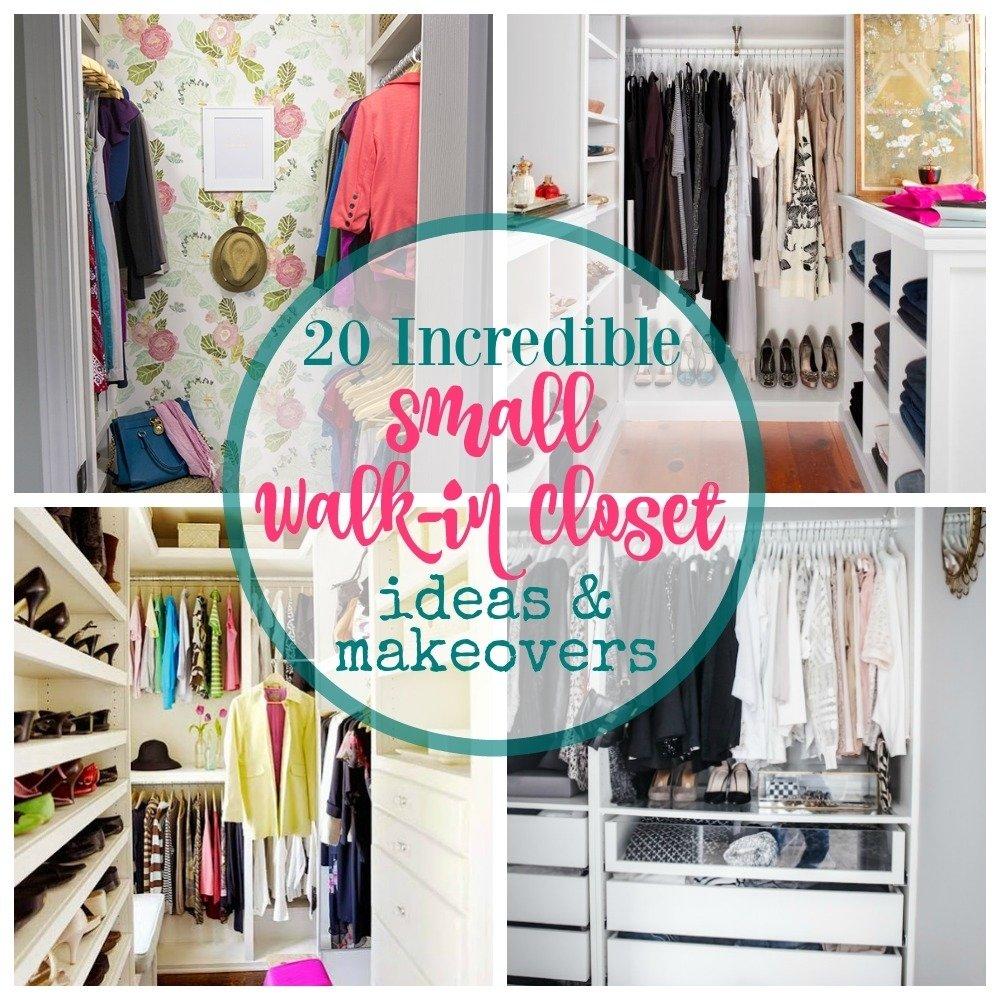 10 Stylish Small Walk In Closet Ideas 20 incredible small walk in closet ideas makeovers the happy housie 3 2021