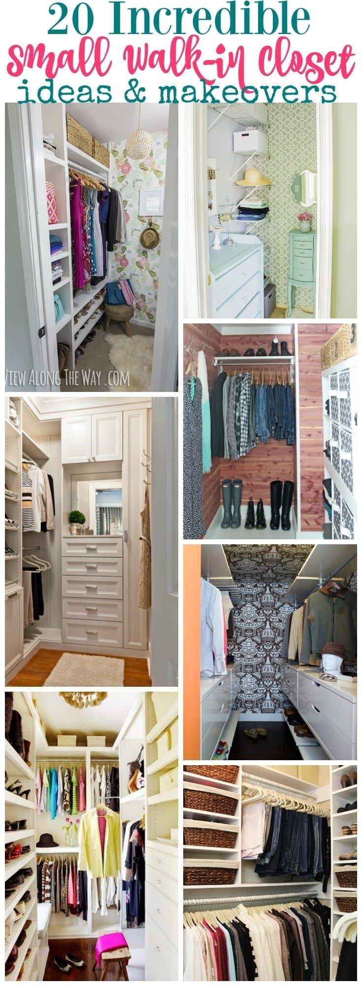 10 Stylish Small Walk In Closet Ideas 20 incredible small walk in closet ideas makeovers the happy housie 5 2021