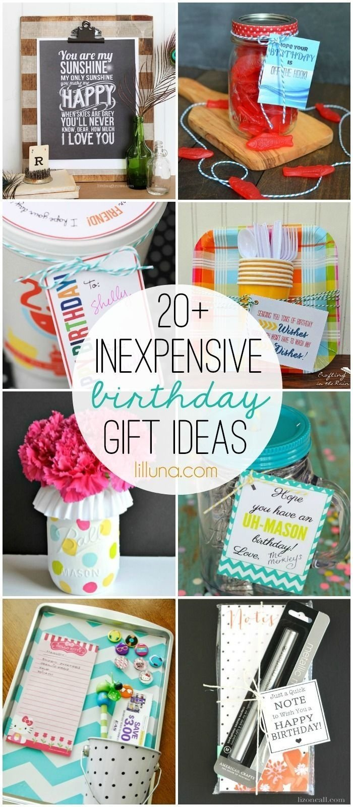 20+ inexpensive birthday gift ideas - must check out all these good