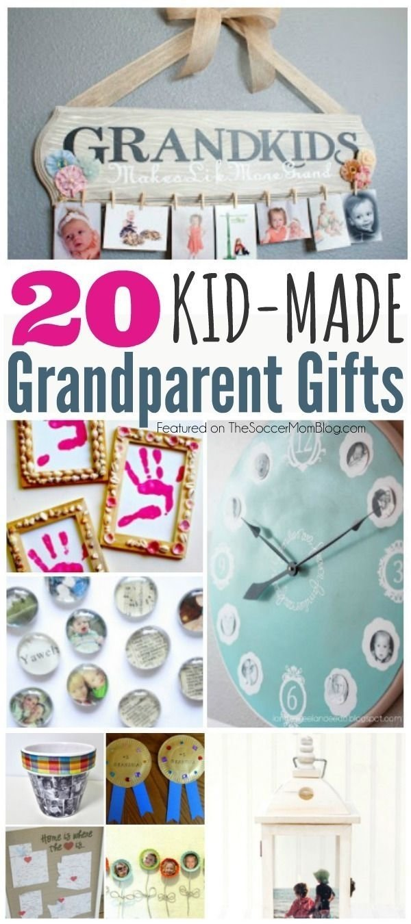 10 Trendy Homemade Gift Ideas For Grandparents 20 kid made grandparent gifts theyll treasure forever 2