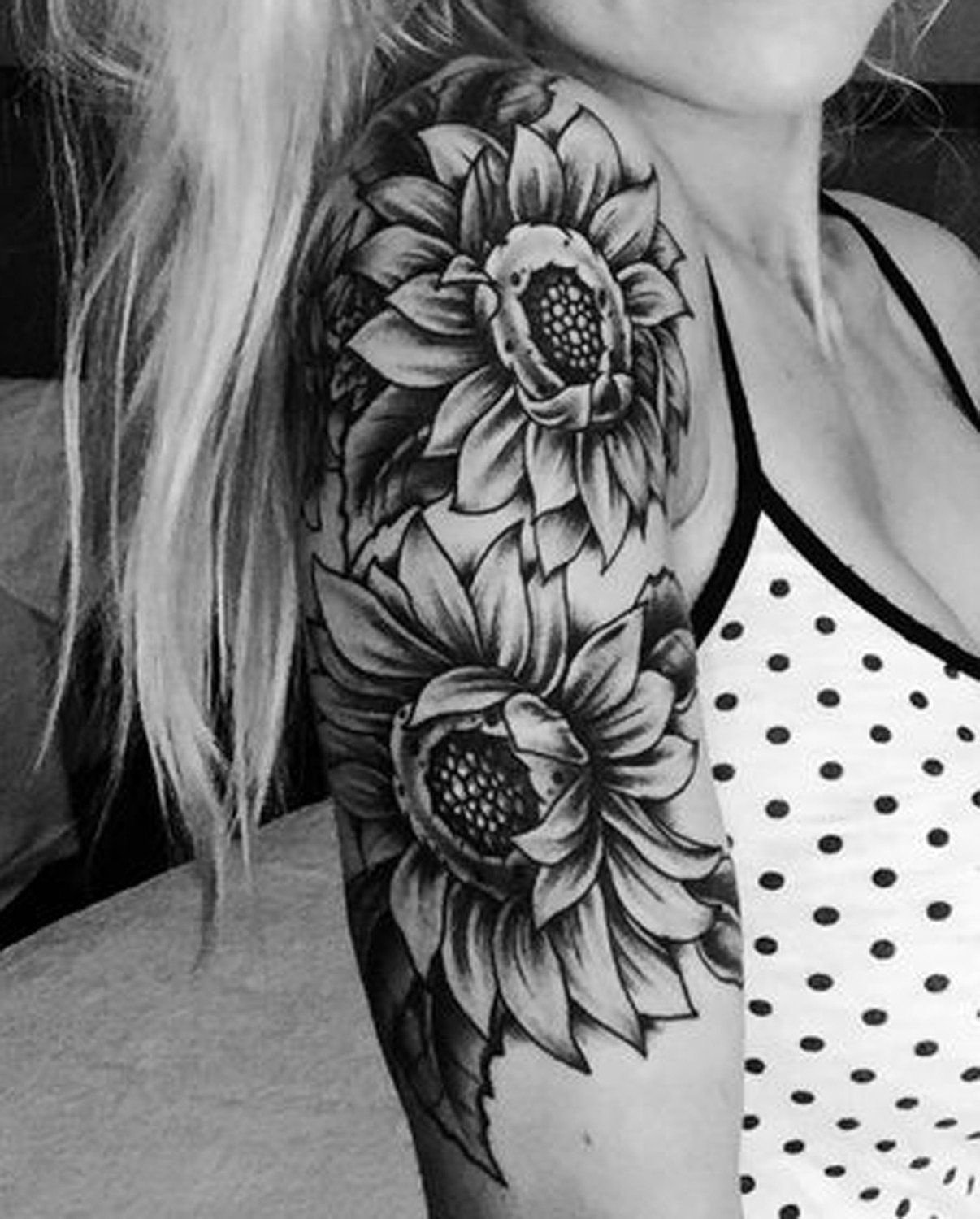 10 Fashionable Black And White Tattoo Ideas 20 of the most boujee sunflower tattoo ideas arm sleeve tattoos 2020