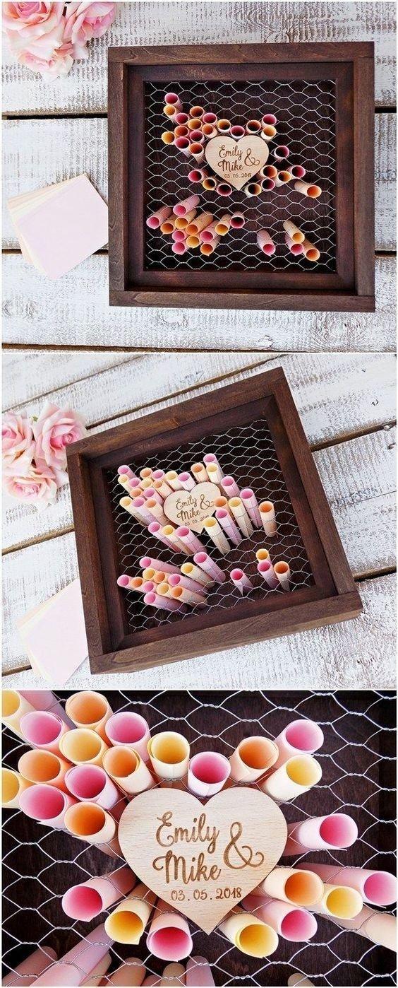 10 Cute Rustic Wedding Guest Book Ideas 20 rustic wedding guest book ideas cadeau mariage idees de 2020