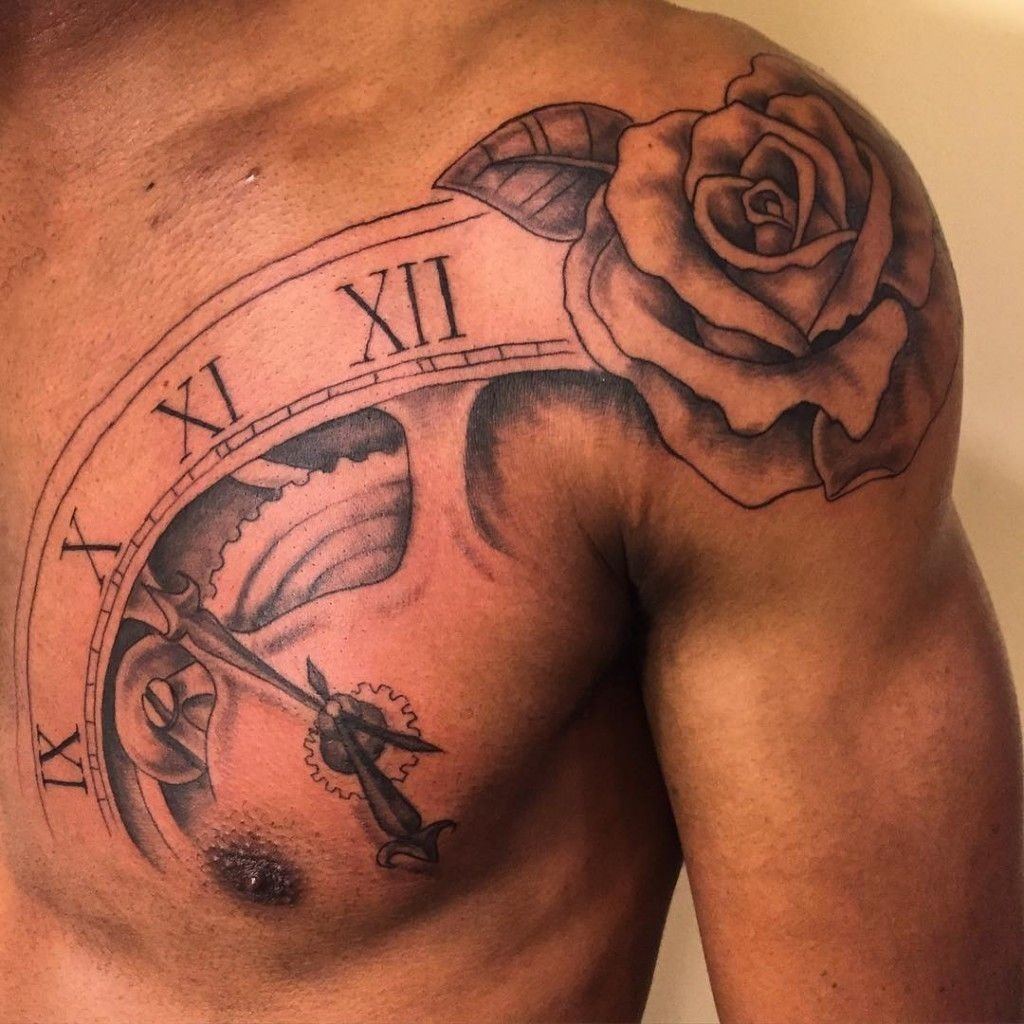 10 Stunning Mens Tattoo Ideas For Shoulder 20 shoulder rose tattoo ideas for you to try idee tatouage 2020