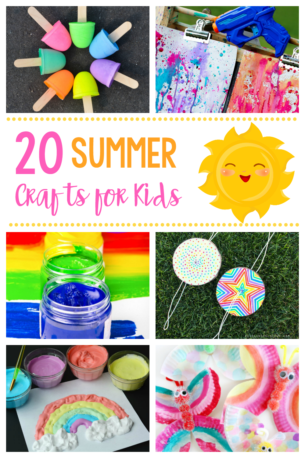 20 simple & fun summer crafts for kids