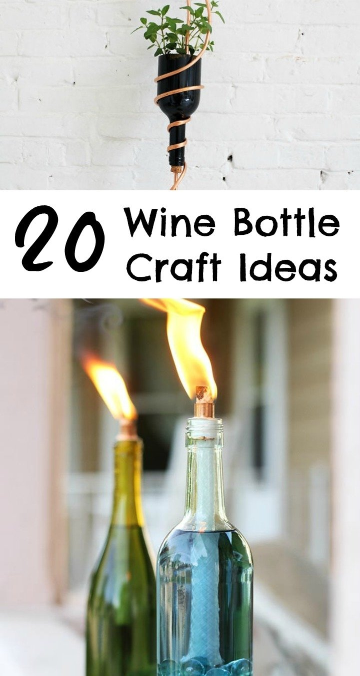 10 Most Popular Craft Ideas For Wine Bottles 20 wine bottle craft ideas to put your wine bottles to good use ritely 2020