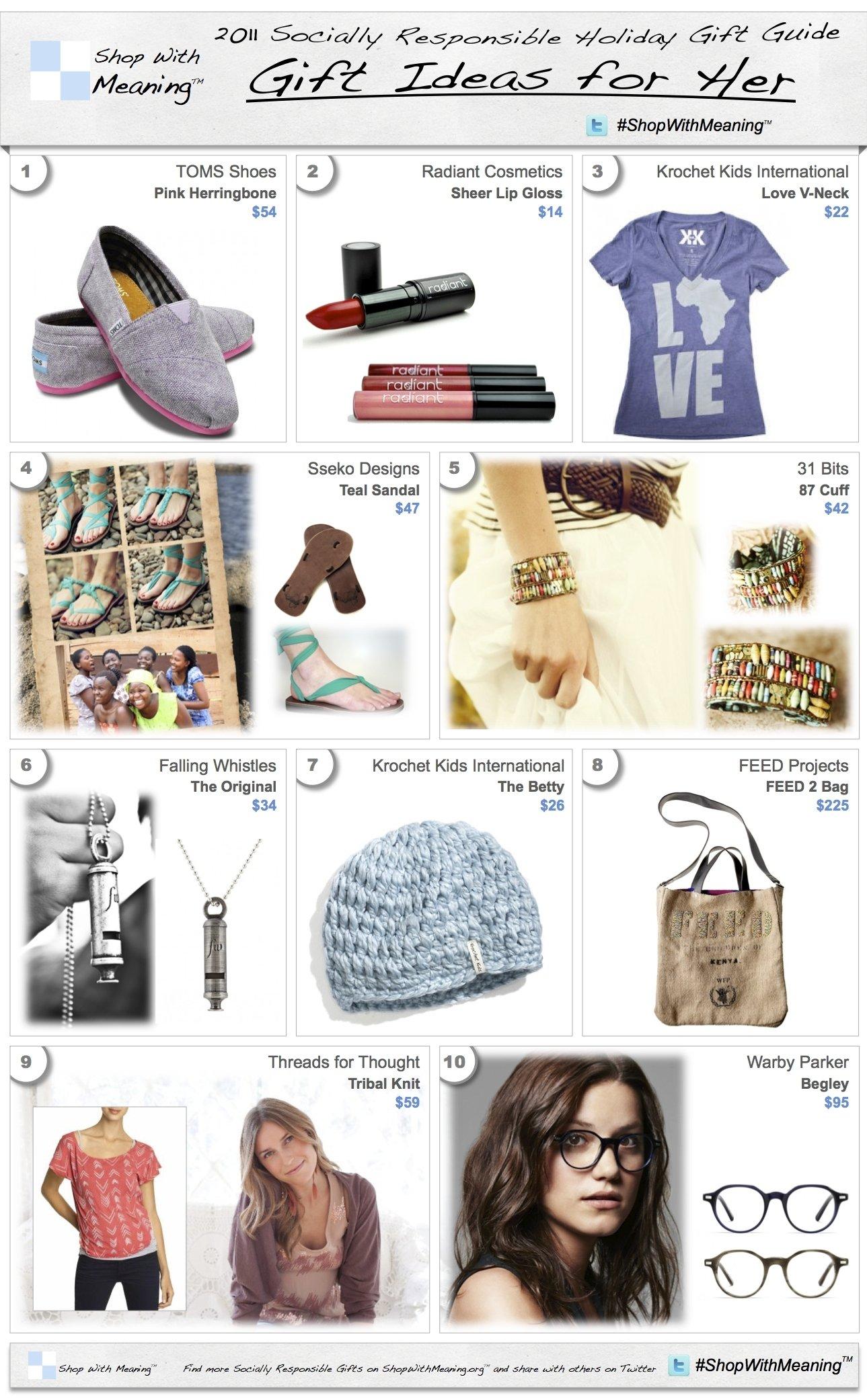 10 Gorgeous Xmas Gift Ideas For Wife 2011 christmas gift ideas women socially responsible christmas 3 2021
