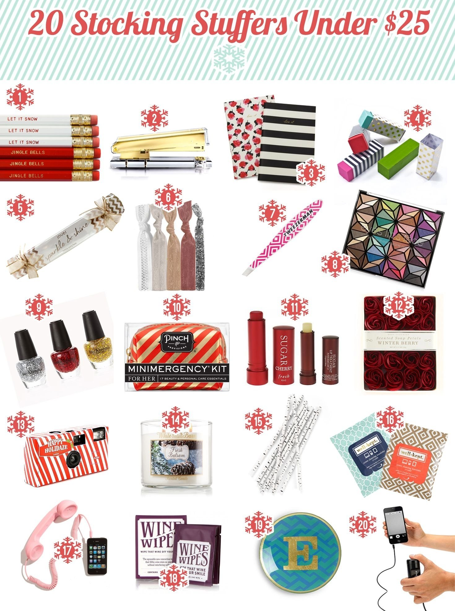 2013 holiday gift guide: secret santa gift ideas under $25. most are