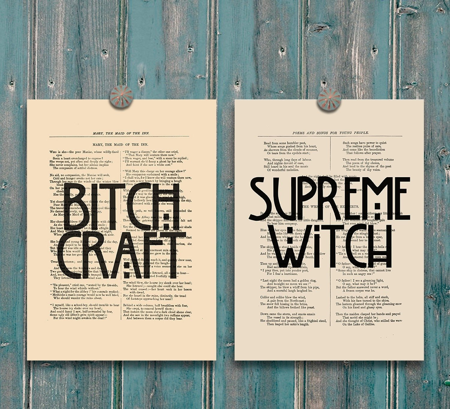 10 Spectacular Ideas For A Horror Story 2014 wall decor ideas american horror story coven print bitch 2020