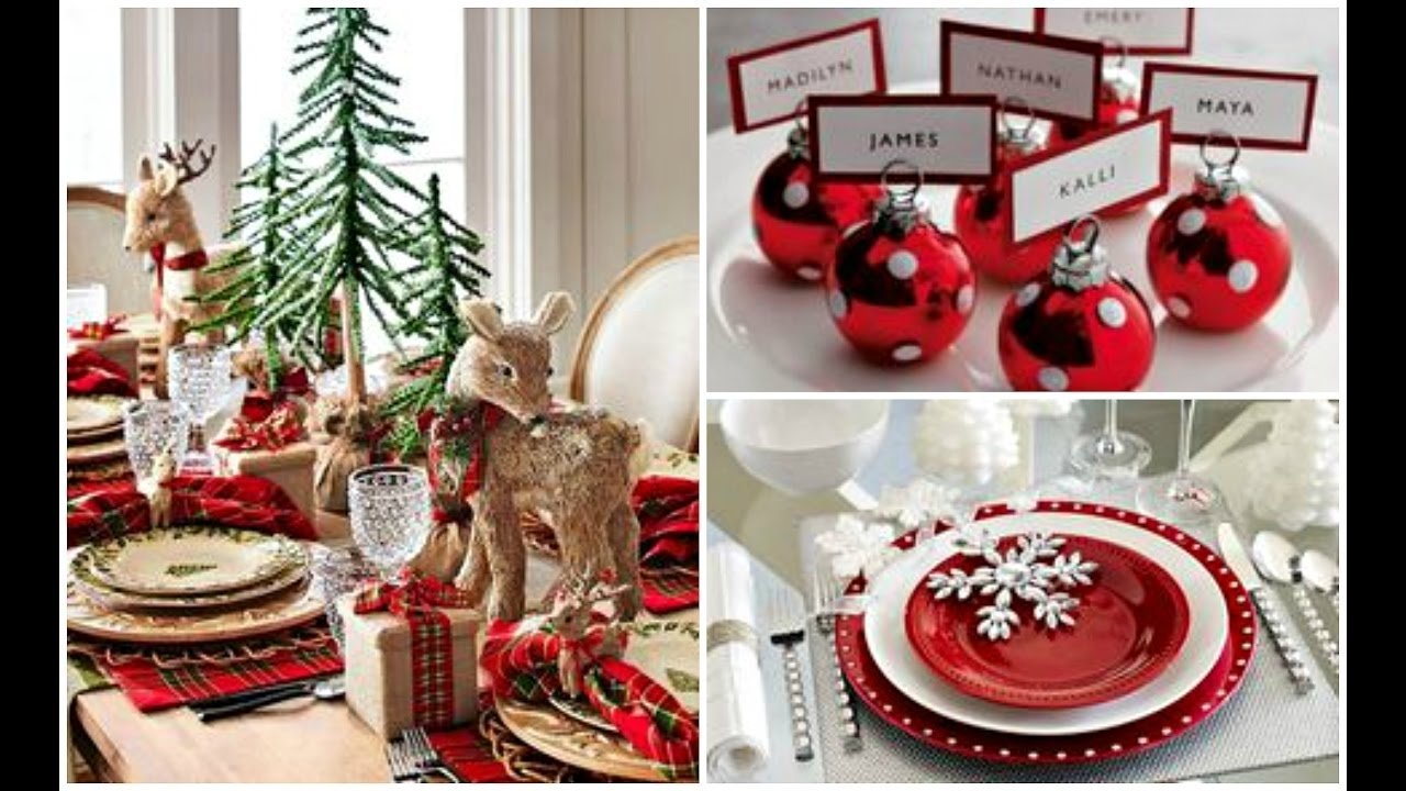 2016 christmas & holiday dinner table setting ideas - youtube
