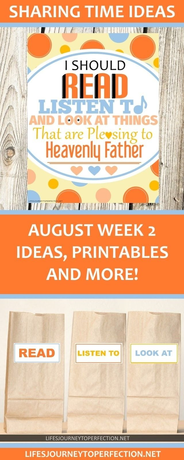 10 Attractive Lds Primary Sharing Time Ideas 2017 lds sharing time ideas for august week 2 i should read listen 2020