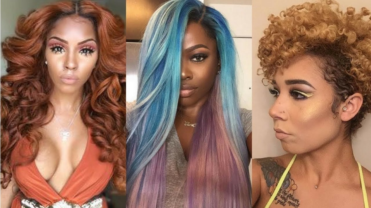 10 Famous African American Hair Color Ideas 2018 hair color ideas for black women youtube 2020