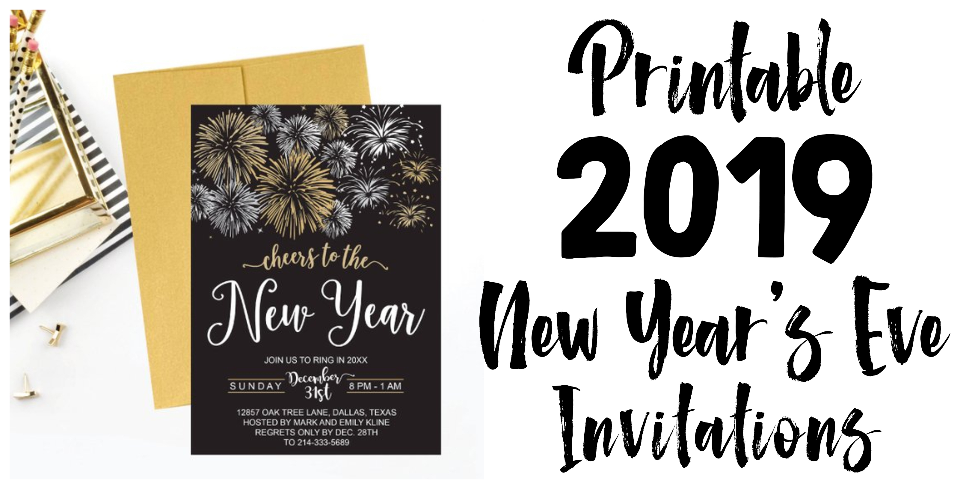 10 Elegant New Years Eve Invitation Ideas 2019 new years eve party invitations e280a2 glitter n spice 2020