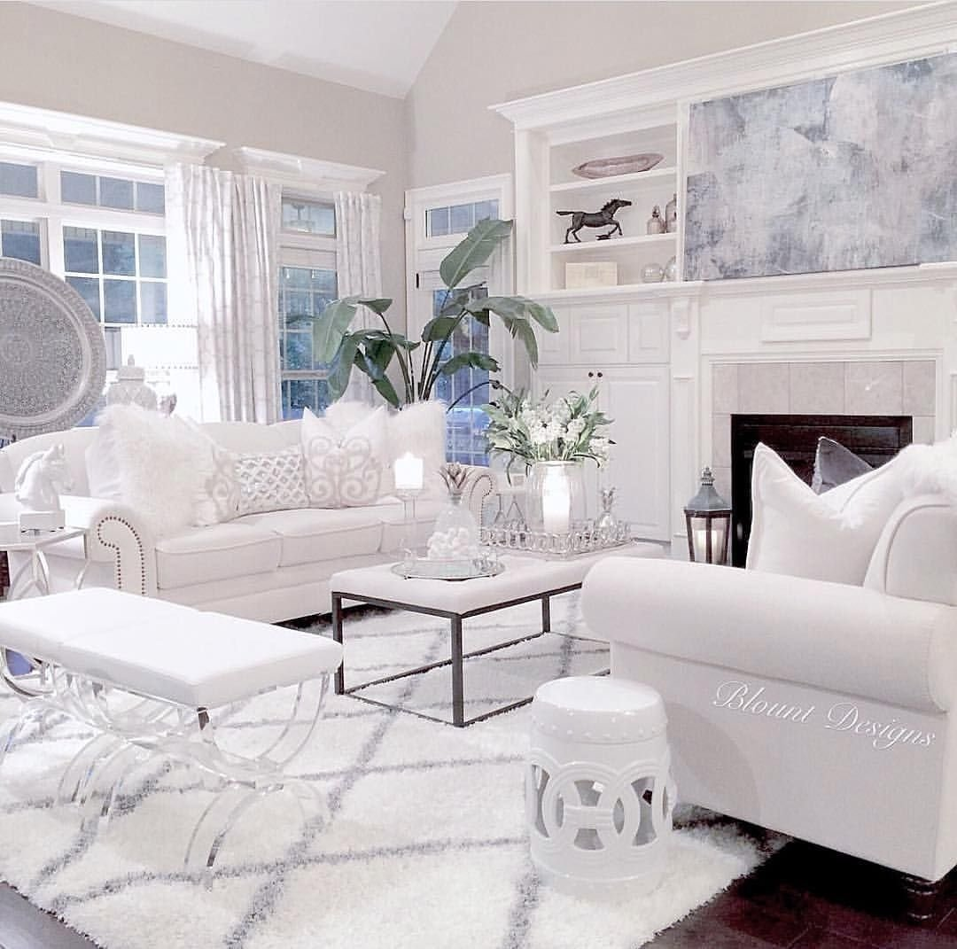 10 Awesome All White Living Room Ideas