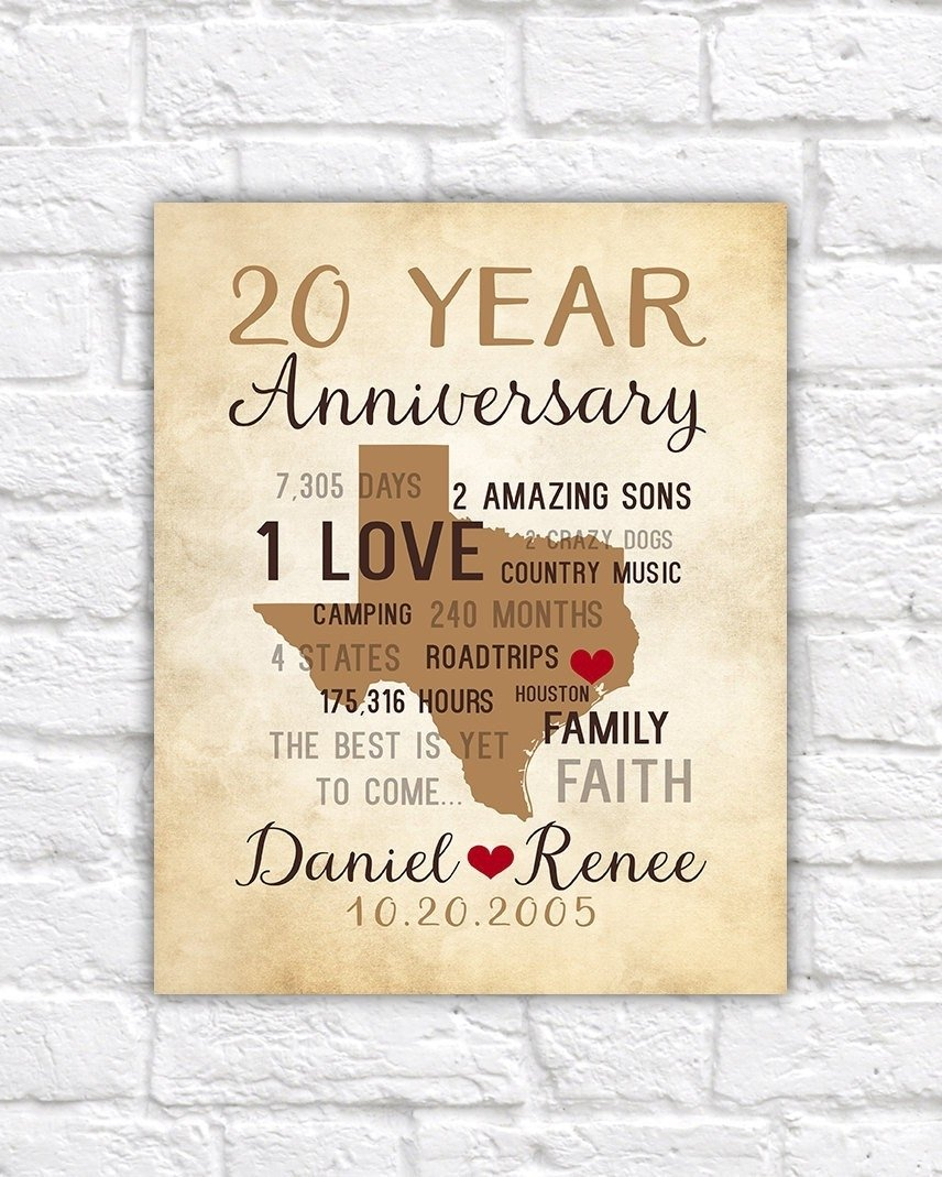 10 Lovable Ideas For 20Th Wedding Anniversary 2019