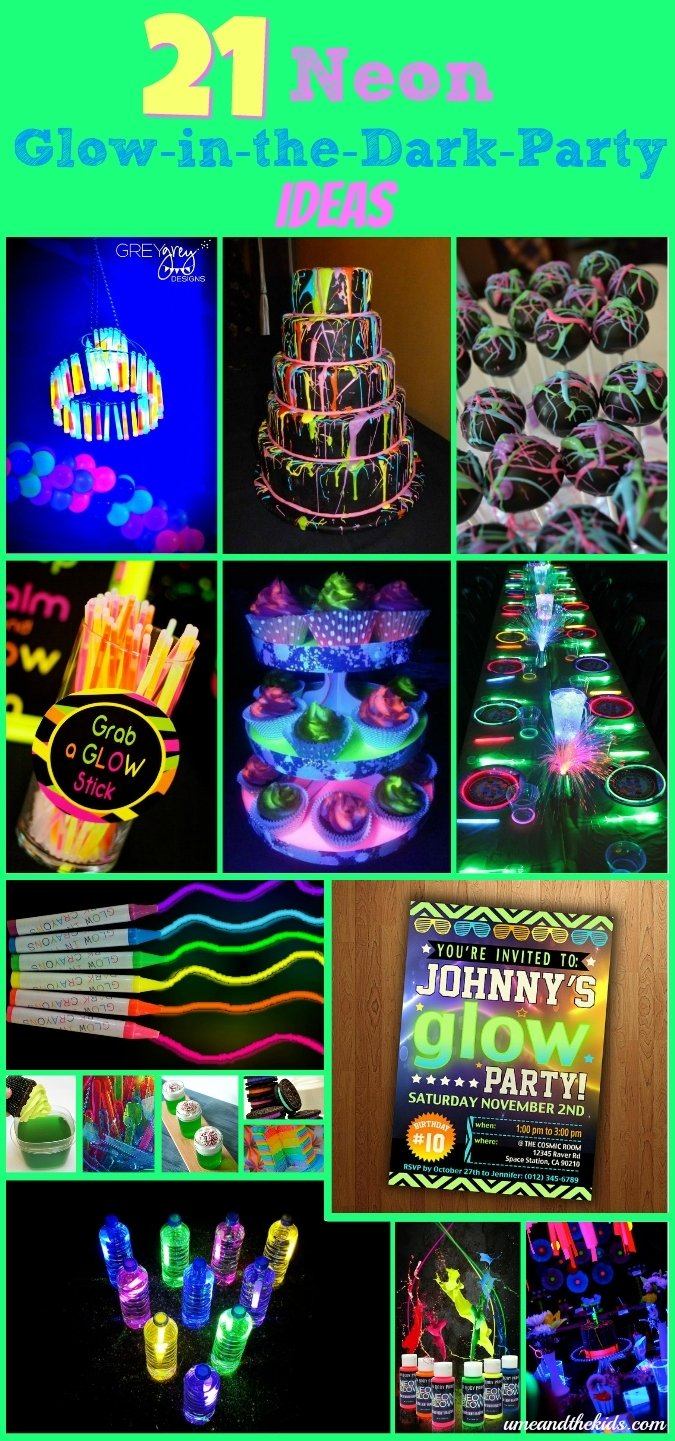 10 Lovely Glow In The Dark Party Ideas 21 awesome neon glow in the dark party ideas 1