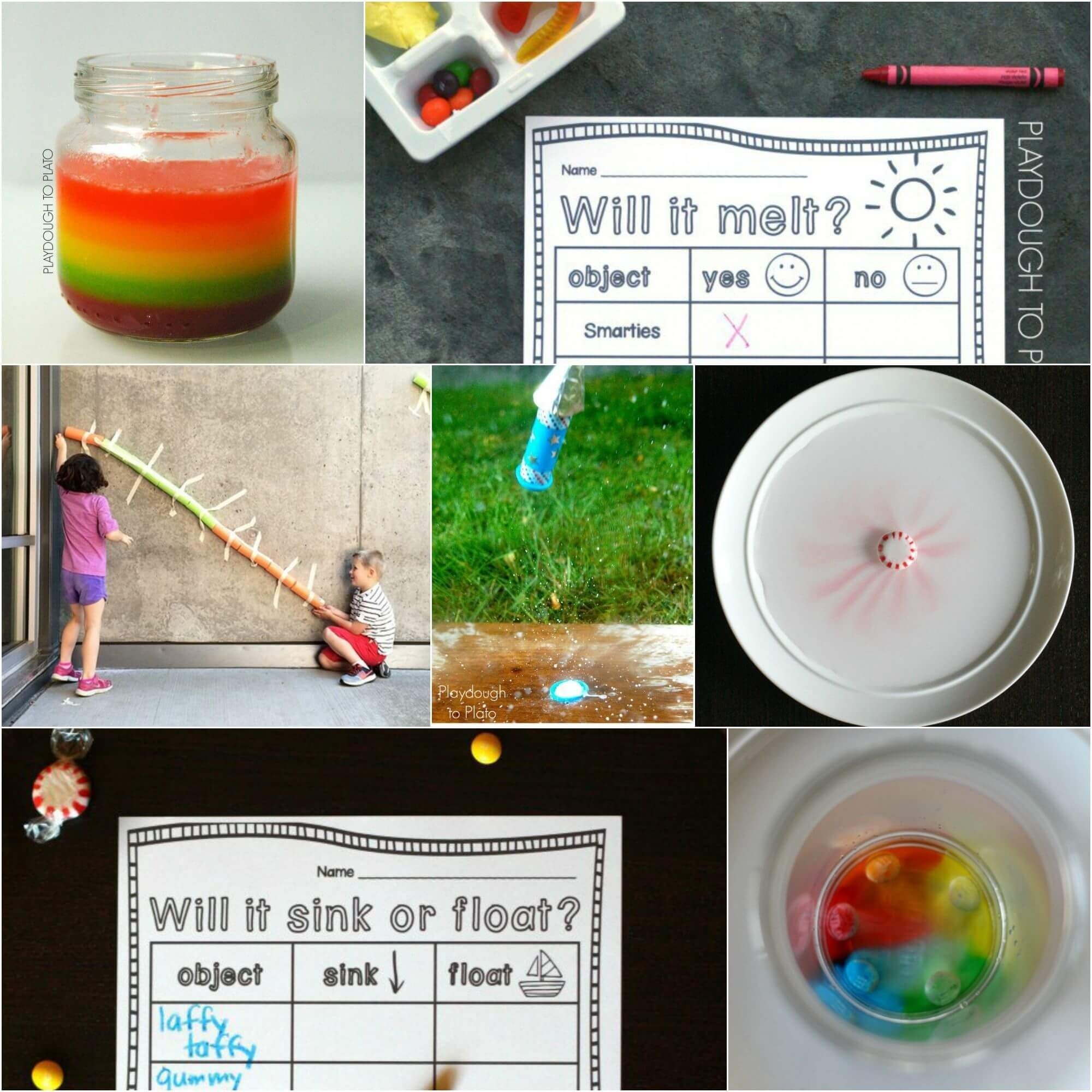 21 candy science experiments - playdough to plato