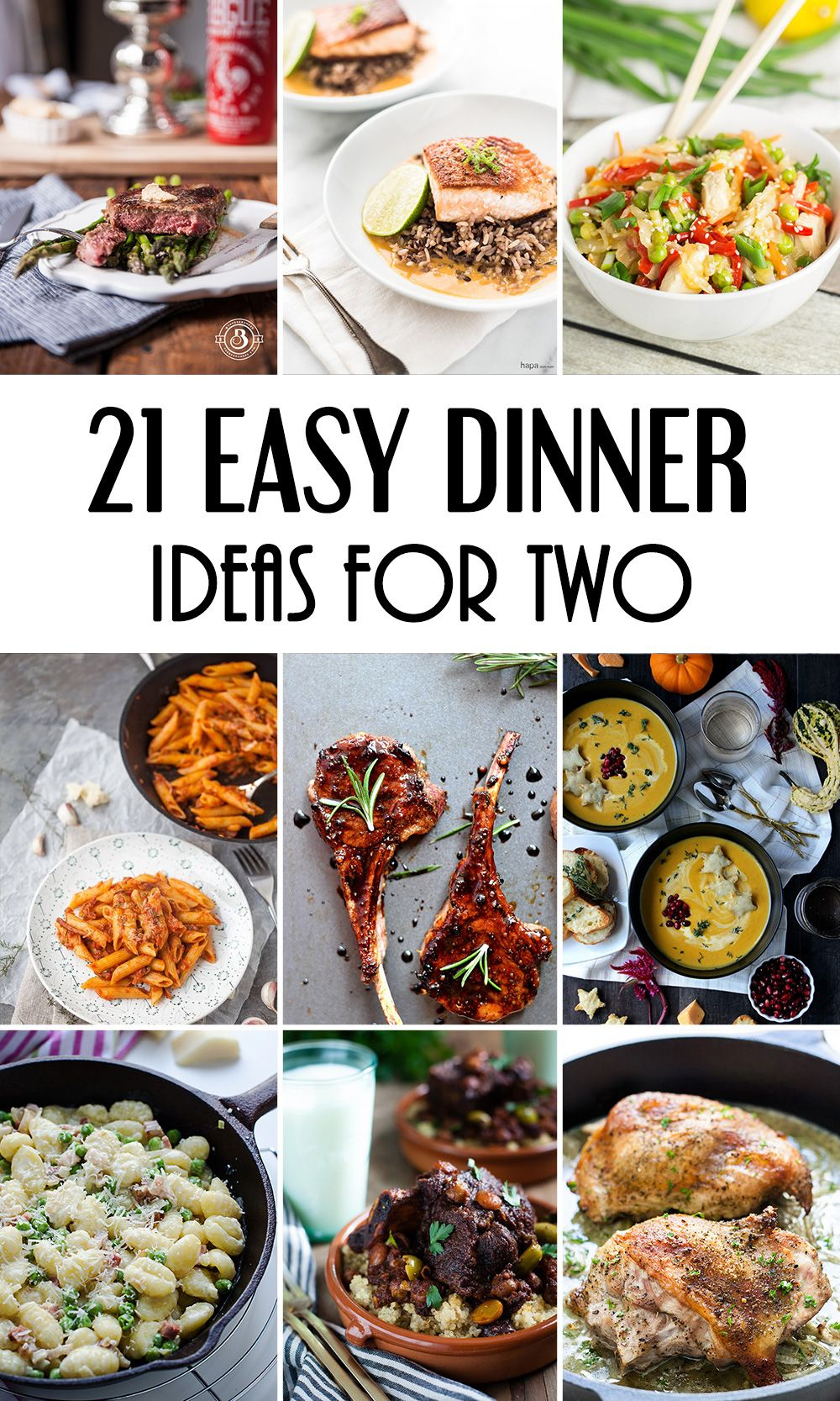 21 easy dinner ideas for two that will impress your loved one | food