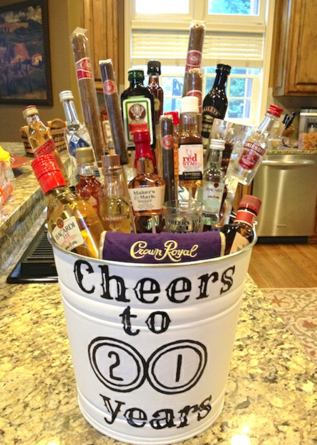 10 Lovable Gift Ideas For 21 Year Old Mini Alcohol Bucket Diy Gifts 21yr
