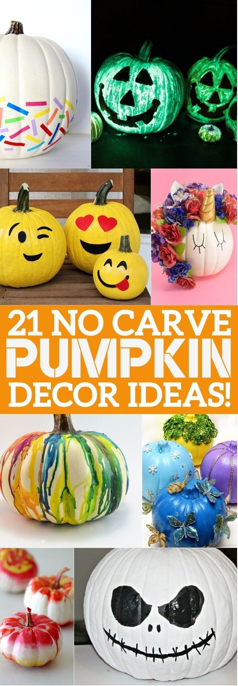 10 Famous No Carve Pumpkin Decorating Ideas 21 no carve pumpkin decorating ideas that youll love this halloween
