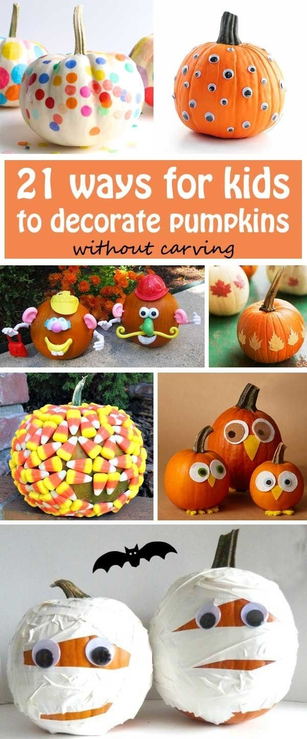 10 Beautiful Pumpkin Decorating Ideas Without Carving For Kids 21 ways for kids to decorate pumpkins without carving confetti 2020