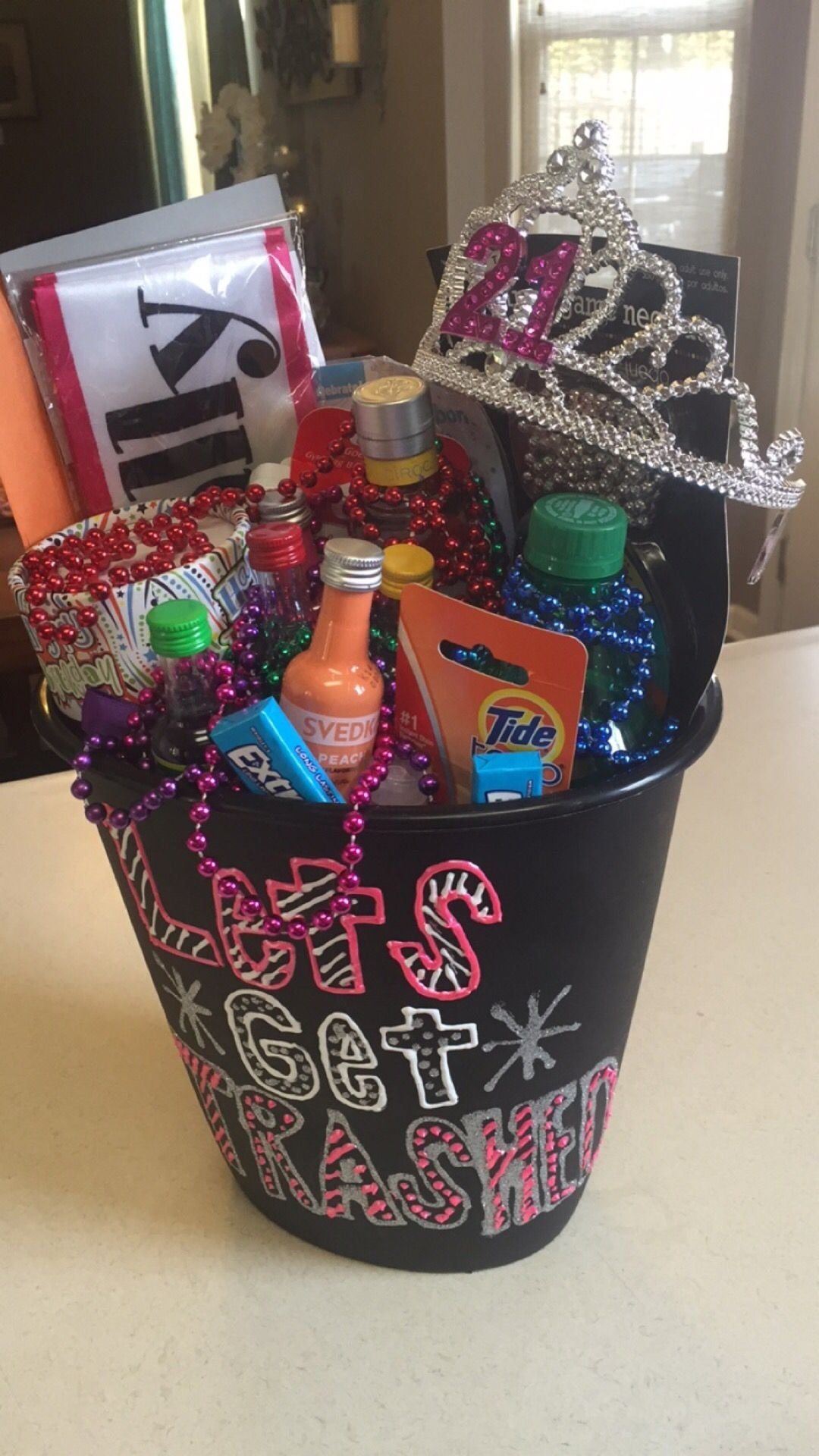 10 Elegant 21St Birthday Gift Ideas For Best Friend 21st In A Trash Can