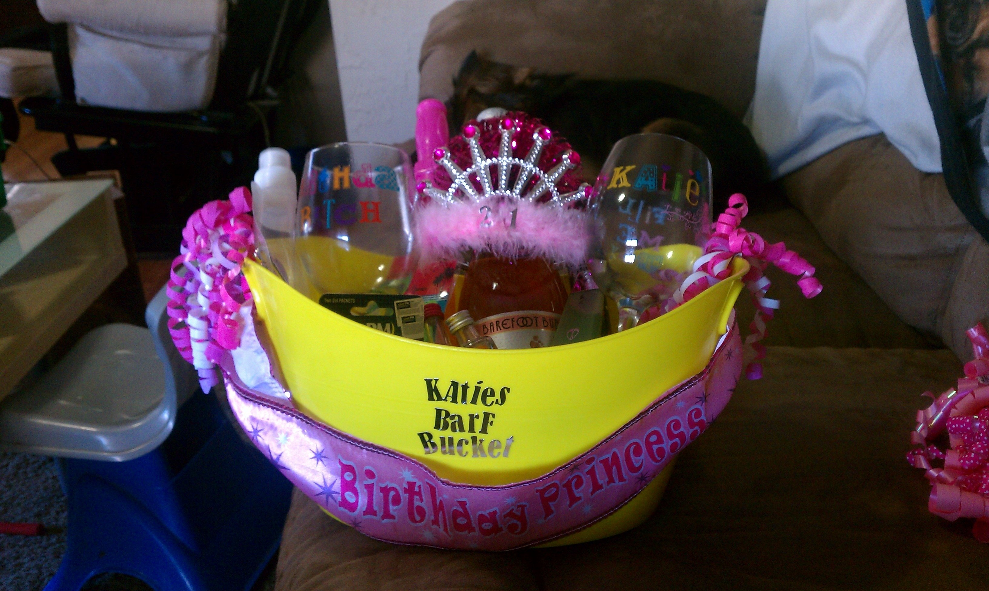10 Pretty 21St Birthday Gift Basket Ideas 21st Heatherandy Jr