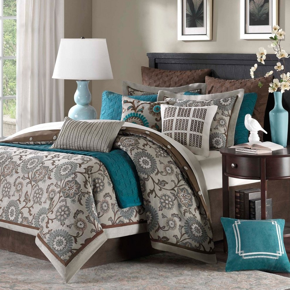 10 Most Popular Teal And Brown Bedroom Ideas 22 beautiful bedroom color schemes decoholic 2021