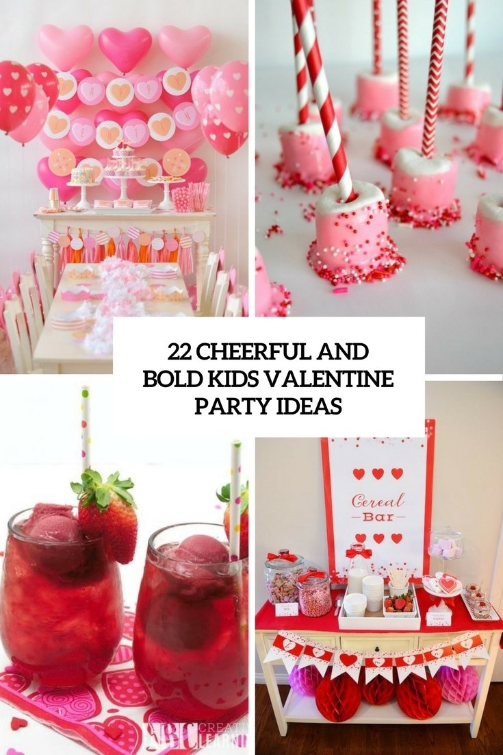 22 cheerful and bold kids' valentine party ideas - shelterness