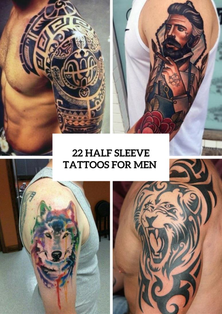 10 Most Popular Half Sleeve Tattoos For Men Ideas 22 half sleeve tattoo ideas for men styleoholic 775x1096 png l 2021