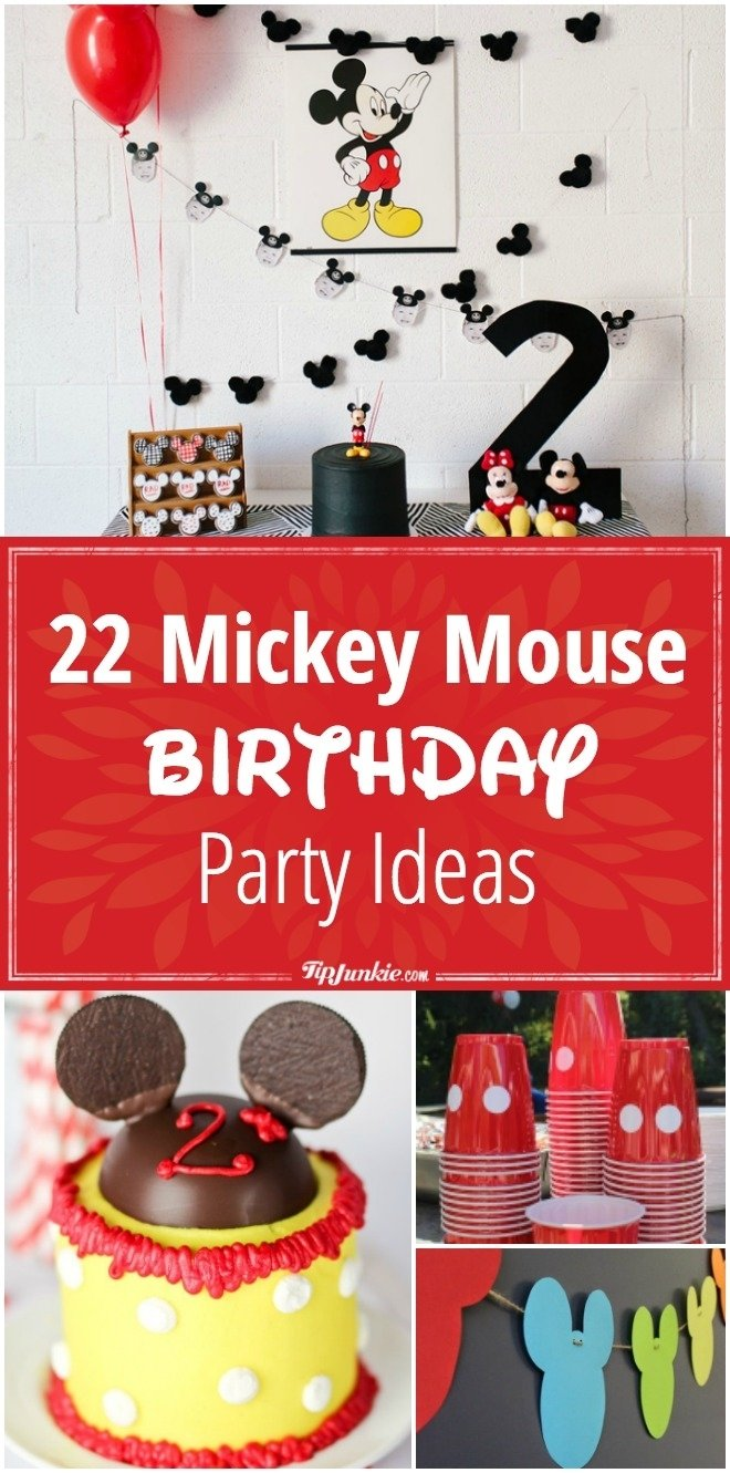 10 Nice Mickey Mouse Birthday Decoration Ideas 22 mickey mouse birthday party ideas tip junkie 2 2020